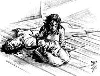 Роузи Кортимиля държи дъщеричката си