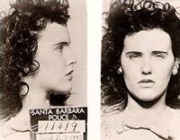 Полицейска снимка на Шорт от ареста й в Санта Барбара