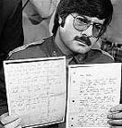 Крег Гласман показва писмата на Бърковиц