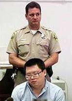 Инг в съда с охрана