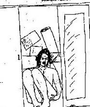 Скица на Нилсън на Окендон в гардероба