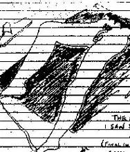 Скица на Нилсън на долната половина от тялото на Синклеър