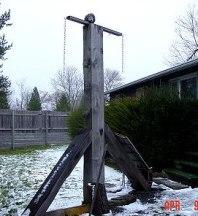 Дървеният кръст с главата