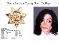 Полицейска снимка на Майкъл Джексън