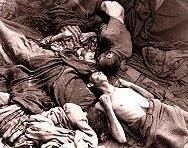 Тела на загинали от глад във влаковете
