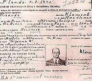 Личните документи на Рикардо Клемент