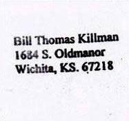 Обратният адрес - Бил Томас Килман