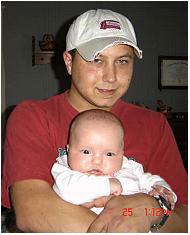 Зеб Стинет и бебето Виктория Джо