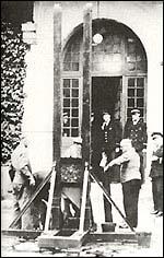 Гилотината, използвана за екзекуцията на Петийо
