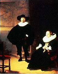 """""""Жена и мъж в черно"""" на Рембранд"""