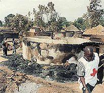 Лагер, опожарен от LRA