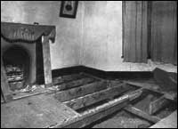 Дъските, под които било открито тялото на г-жа Кристи