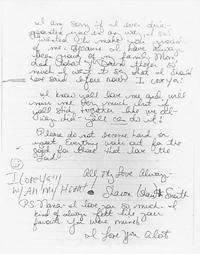 Втората страница от писмото на Шари
