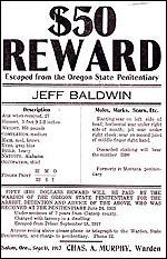 Награда за залавянето на Джеф Болдуин