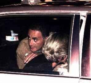 Доди и Даяна на задната седалка на Мерцедеса, минути преди катастрофата