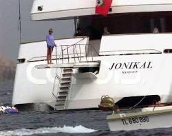 Даяна на яхтата Йоникал