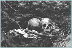 Останките на някои от жертвите на Барбоса