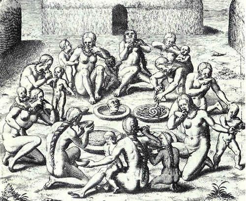 Индианци, практикуващи канибализъм