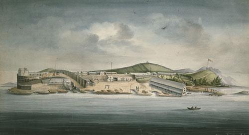 Остров Сара, Маккуари Харбър, 1833 г.