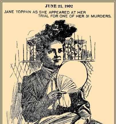 Джейн Топан по време на процеса