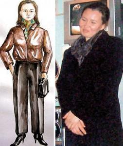 Ирина, вдясно, до фоторобота, изработен по описанието на Билбинур Макшаева