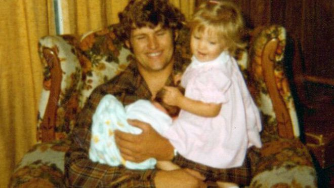 Мелиса Мур с баща си
