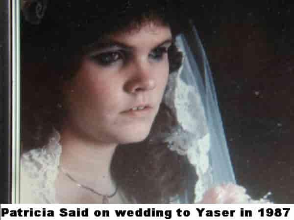 Тиси Саид на сватбата си с Ясер