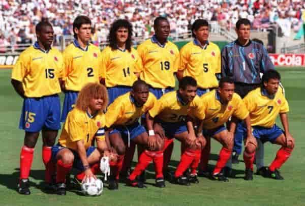 През 90-те години на миналия век Колумбия е един от най-добрите футболни отбори в света