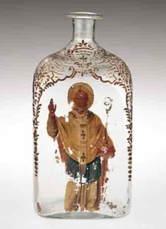 Бутилка Акуа Тофана с изображението на Свети Николас