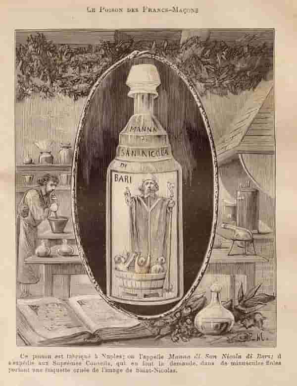 Акуа Тофана или както станала известна - Манната на Свети Никола от Бари.